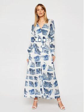 Silvian Heach Silvian Heach Sukienka koszulowa Peakes PGP21165VE Niebieski Regular Fit