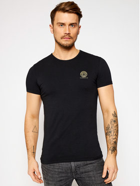 Versace Versace T-shirt Medusa AUU01005 Nero Regular Fit