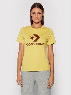 Converse Converse T-shirt Star Chevron 10018569-A35 Jaune Standard Fit