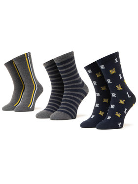 Mayoral Mayoral Súprava 3 párov vysokých detských ponožiek 10873 Sivá
