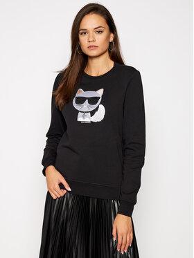 KARL LAGERFELD KARL LAGERFELD Sweatshirt Ikonik Choupette 205W1803 Schwarz Regular Fit