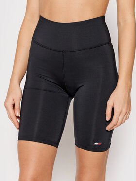 Tommy Hilfiger Tommy Hilfiger Sportske kratke hlače S10S101097 Crna Slim Fit