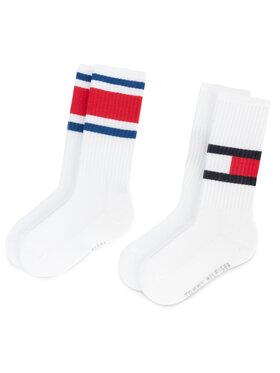 Tommy Hilfiger Tommy Hilfiger Sada 2 párů vysokých ponožek unisex 394020001 Bílá