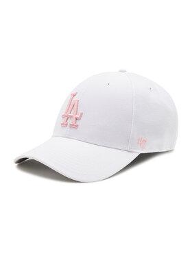 47 Brand 47 Brand Czapka z daszkiem Los Angeles Dodgers B-MVP12WBV-WHD Biały