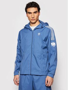 adidas adidas Geacă de vânt adicolor 3D Trefoil GN3552 Albastru Regular Fit