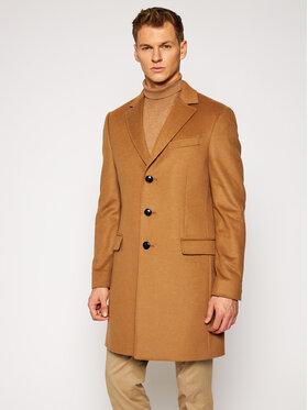 Tommy Hilfiger Tailored Tommy Hilfiger Tailored Vlnený kabát Wool Blend TT0TT08117 Hnedá Regular Fit