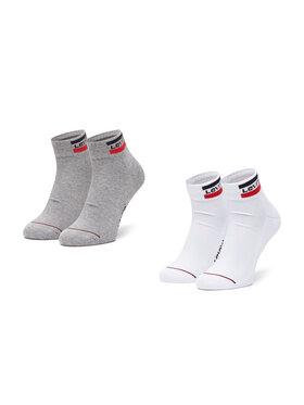 Levi's® Levi's® Sada 2 párů pánských vysokých ponožek 37157-0146 Bílá