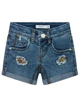 NAME IT NAME IT Jeansshorts 13185449 Dunkelblau Slim Fit