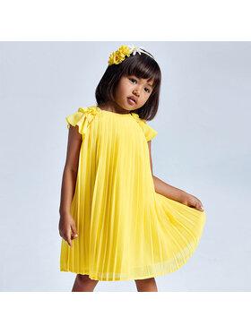 Mayoral Mayoral Елегантна рокля 3911 Жълт Regular Fit