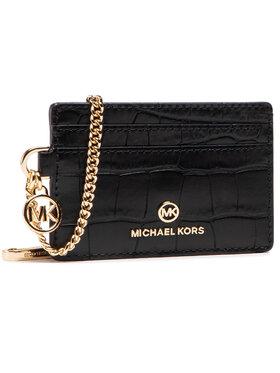 MICHAEL Michael Kors MICHAEL Michael Kors Pouzdro na kreditní karty Jet Set Charm 34S1GT9D1E Černá