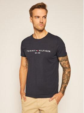 TOMMY HILFIGER TOMMY HILFIGER T-Shirt Core Logo Tee MW0MW11465 Granatowy Regular Fit