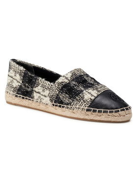 Tory Burch Tory Burch Espadrile Color Block Flat Espadrille 76256 Negru