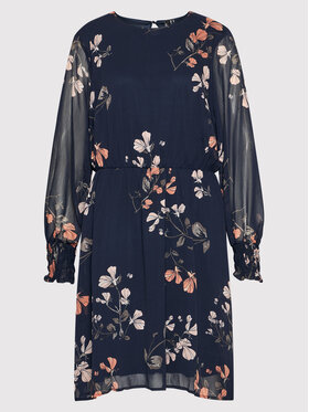 Vero Moda Curve Vero Moda Curve Sukienka letnia Nilla 10264821 Granatowy Regular Fit