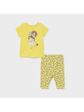 Mayoral Mayoral Completo T-shirt e leggings 1714 Giallo Regular Fit
