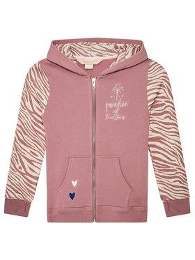 Femi Stories Femi Stories Bluza Zippa Różowy Regular Fit