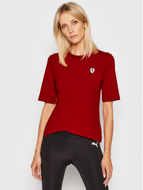 Puma Puma T-shirt Ferrari Style Shield 598048 Rouge Regular Fit