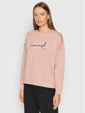 Vero Moda Vero Moda Суитшърт Feminist 10262913 Розов Regular Fit