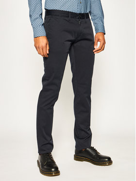 Emporio Armani Emporio Armani Spodnie materiałowe 3H1P20 1NEDZ 0922 Granatowy Slim Fit