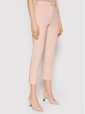 Pinko Pinko Spodnie materiałowe Torrone PE 21 BLK01 1G15VF 8419 Różowy Regular Fit