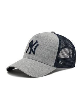 47 Brand 47 Brand Шапка с козирка Mlb New York Yankees Storm Cloud Mesh B-STMSD17WHP-CC Сив