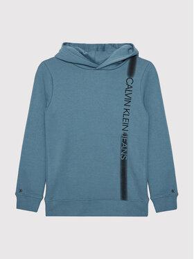 Calvin Klein Jeans Calvin Klein Jeans Bluza Institutional Spray IB0IB00903 Niebieski Regular Fit