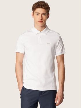 Boss Boss Tricou polo Paule Tr 50435671 Alb Slim Fit