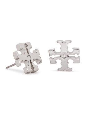 Tory Burch Tory Burch Kolczyki Logo Stud Earring 11165504 Srebrny