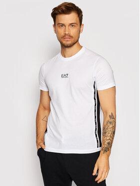 EA7 Emporio Armani EA7 Emporio Armani T-Shirt 6KPT04 PJ02Z 1100 Biały Regular Fit