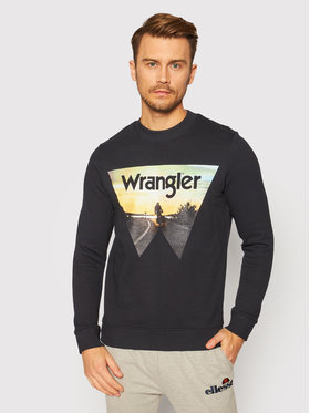 Wrangler Wrangler Mikina Explorer Sweat W6D0HY100 Čierna Regular Fit