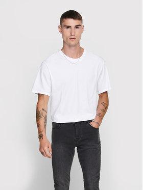 Only & Sons ONLY & SONS T-shirt Matt Life 22002973 Bianco Regular Fit