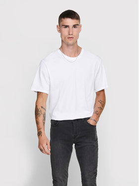 Only & Sons ONLY & SONS Тишърт Matt Life 22002973 Бял Regular Fit