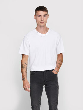 Only & Sons ONLY & SONS Tricou Matt Life 22002973 Alb Regular Fit