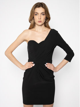 Elisabetta Franchi Elisabetta Franchi Koktejlové šaty AB-178-01E2-V289 Čierna Slim Fit