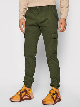Tommy Jeans Tommy Jeans Joggers kalhoty Scanton DM0DM09660 Zelená Slim Fit