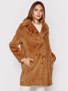 TWINSET TWINSET Кожено палто 212TP2230 Розов Regular Fit