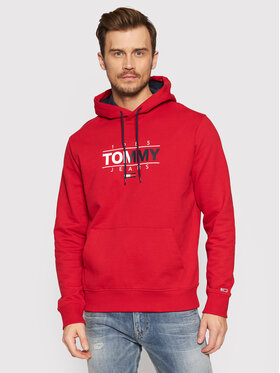 Tommy Jeans Tommy Jeans Pulóver Tjm Essential Graphic DM0DM11630 Piros Regular Fit
