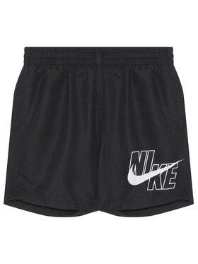 NIKE NIKE Badeshorts Logo Solid NESSA771 Schwarz Standard Fit