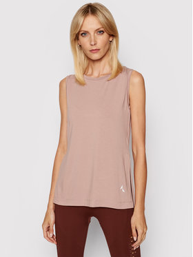Carpatree Carpatree Technisches T-Shirt Slit CPW-SHI-1001 Rosa Regular Fit