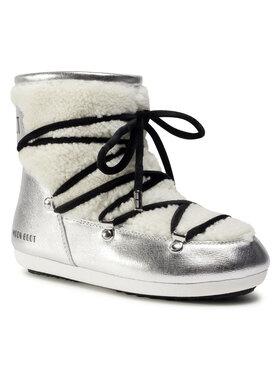 Moon Boot Moon Boot Μπότες Χιονιού Dk Side Low Saffiano 24300900001 Ασημί