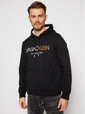 Calvin Klein Calvin Klein Mikina Text Reverse Front Logo K10K106404 Čierna Regular Fit