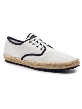 TOMMY HILFIGER TOMMY HILFIGER Еспадрили Canvas Lace Up Espadrille FM0FM02254 Бял