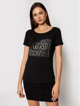 Liu Jo Liu Jo T-shirt TA1151 J7905 Crna Regular Fit