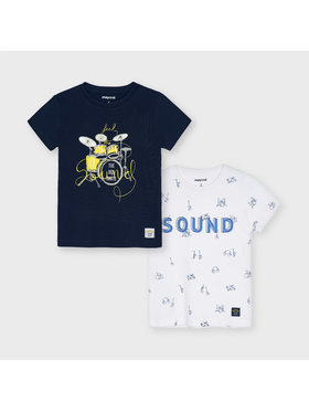 Mayoral Mayoral 2er-Set T-Shirts 3050 Dunkelblau Regular Fit