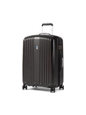 Dielle Dielle Közepes keményfedelű bőrönd 120/60 Fekete