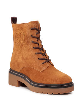 Tory Burch Tory Burch Planinarske cipele Miller 50Mm Lug Sole Bootie 75437 Smeđa