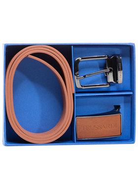 Trussardi Jeans Trussardi Jeans Ζώνη Ανδρική Belt Kit Cuoio 71L00134 Καφέ
