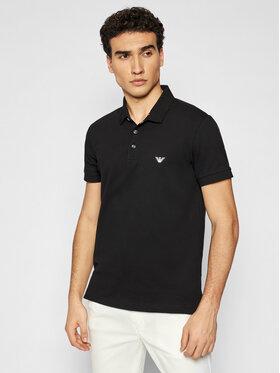 Emporio Armani Emporio Armani Тениска с яка и копчета 211804 1P461 00020 Черен Regular Fit