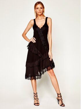 My Twin Každodenné šaty 201MT2110 Čierna Regular Fit