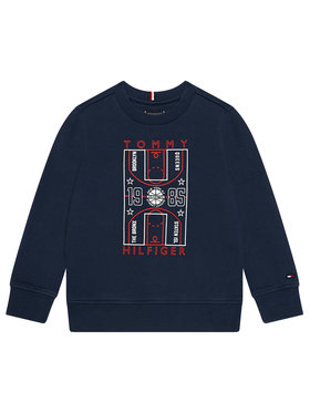 Tommy Hilfiger Tommy Hilfiger Bluza Glow In The Dark Cn Sweatshirt KB0KB06346 M Granatowy Regular Fit