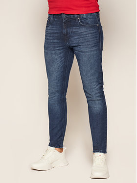 Guess Guess Jeansy Super Skinny Fit Chris M0YA27 D4321 Blu scuro Super Skinny Fit